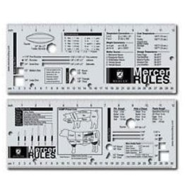 "Mercer Culinary Ruler, S/S, 12-1/4"" x 5"""