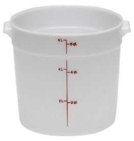 Cambro Food Storage Container, 6 Qt