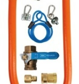 "BK Resources Gas Hose Quick Disconnect Kit, 36"" Long"