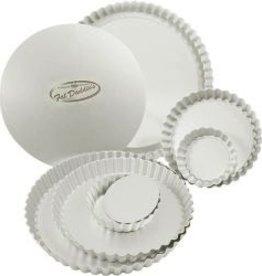 """Fat Daddio's Tart Pans (1 Doz), 9-1/2"""" x 1"""""""