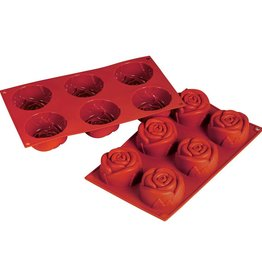 Fat Daddio's Roses Mold, 6 Cavities