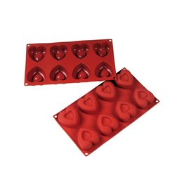 Fat Daddio's Hearts Mold, Silicone, 8 Cavities