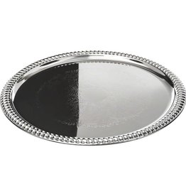 Tablecraft Round Chrome Pltd Tray, 14""