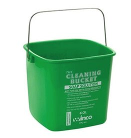 Winco Cleaning Bucket, 6 Qt, Green