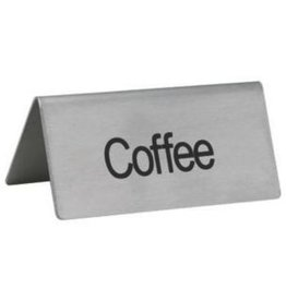"Winco Tent Sign, S/S, ""Coffee"""