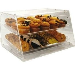 "Winco Display Case, 2 Tray, 21"" x 18"" x 12""H"