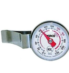 "Winco Frothing Thermometer, 1"" Face"