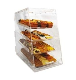 "Winco Display Case, 4 Trays, 24"" x 24"" x 14"""