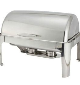 Winco Chafer, Roll Top, 8 Qt