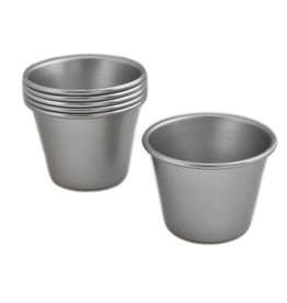 "Allied Metal Baba Baking Cup, Alum, 2.5"" Top"