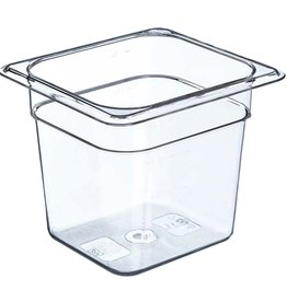 "Thunder Group Food Storage Container, 1/6 Size, 6"" Deep"