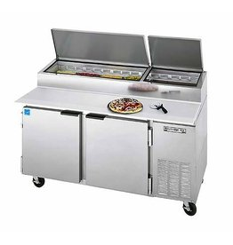 "Beverage Air Pizza Prep Table, 67"", 27.0 cu. ft."