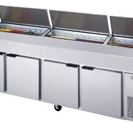 Beverage Air Pizza Top Counter, Refrigerated, 4 Section, 119W, 52.5 cu. ft.