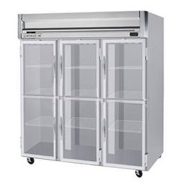 Beverage Air Reach-In Freezer, 3 Section, Glass Doors, 74 cu. ft.