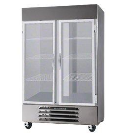Beverage Air Reach-In Freezer, 2 Sect, Glass Doors, 49 cu. ft.