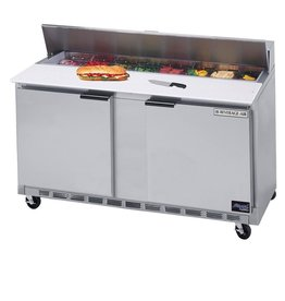 "Beverage Air Sandwich Unit, 2 Section, 60"", 17.1 cu.ft."