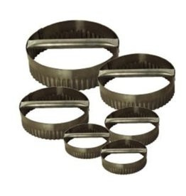 "Allied Metal Dough Cutting Ring, S/S, Fluted, 6"" x 3"""