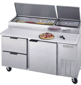 "Beverage Air Pizza Prep Table, 67"", 27.0 cu.ft."