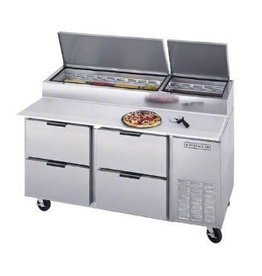"Beverage Air Pizza Prep Table, 67"", 27 cu.ft."