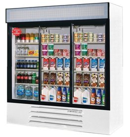 Beverage Air Refrigerated Merchandiser, 3 Sect., 70 cu.ft.