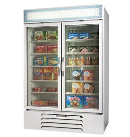 Beverage Air Freezer Merchandiser, 2 Sect., 49 cu.ft