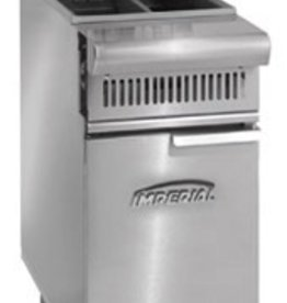 Imperial Fryer, (2) 25 lbs. Split Pot, S/S