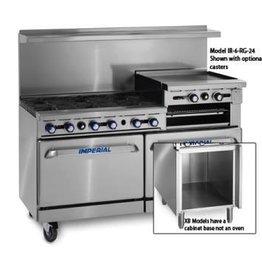"""Imperial Range, (4) Burners, (1) 24"""" Rainsed Griddle/Broiler, (1) Oven, (1) Cabinet Base"""