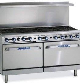 "Imperial Range, (10) Burners, (1) Conv. Oven, (1) Std Oven, 60"""