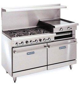 """Imperial Range, (6) Burners, 24"""" Raised Griddle/Broiler, (2) Conv. Ovens, 60"""""""
