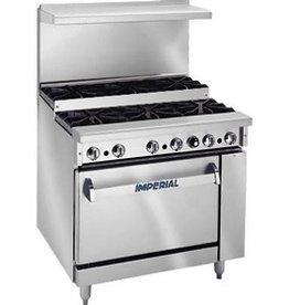 """Imperial Range, (10) Step-up Burners, (1) Conv. Oven, (1) Cabinet Base, 60"""""""