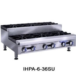 "Imperial Gas Hot Plate, (8) Step Up Burners, 48""W"
