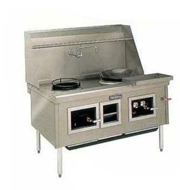 """Imperial Chinese Gas Range, (6) Burners, 174"""" x 41"""" x 33"""""""