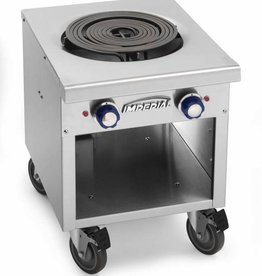 "Imperial Electric Stock Pot Range, (1) Coil, Open Cabinet Base, 18"" x 21"" x 23.5"""