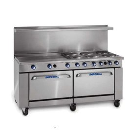 "Imperial Electric Range, (6) Plates, (2) Ovens, 36"" Griddle, 72"""