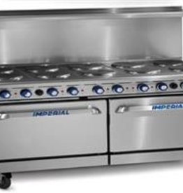 """Imperial Electric Range, (12) Plates, (2) Ovens, 72"""""""
