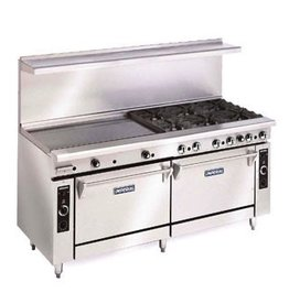 "Imperial Electric Range, (6) Plates, (2) Ovens, 24"" Griddle, 60"""