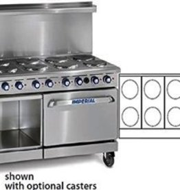 Imperial Electric Range, (10) Plates, (1) Oven, (1) Cabinet Base, 60""