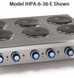 "Imperial Countertop Electric Hotplate, (3) Burners, 36""W"