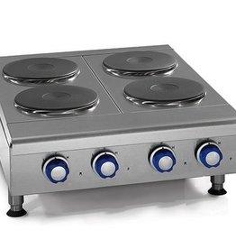 "Imperial Countertop Electric Hotplate, (4) Burners, 24""W"