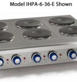 "Imperial Countertop Electric Hotplate, (8) Burners, 48""W"