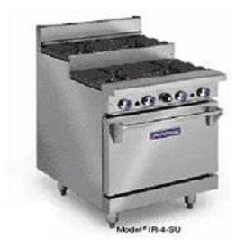 "Imperial Range, (12) Step-up Burners, (2) Ovens, 72"""