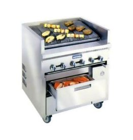 Imperial Char-Broiler, 3 Position Grates, (2) Drawer Refrig. Base, 36""
