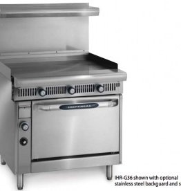 """Imperial Range, 36"""" Griddle Top w/Thermostats, (1) Storage Base, 36"""""""