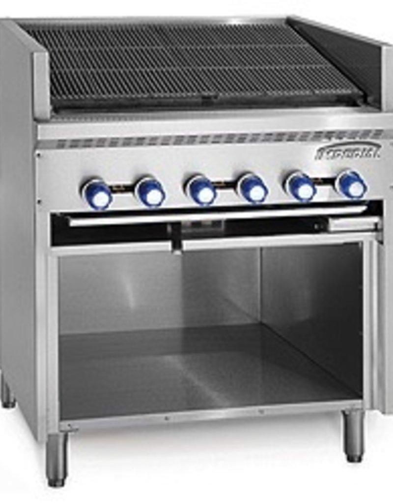 "Imperial Floor Model Broiler w/Open Cabinet Base, (13) Burners, 72"""