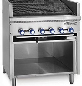 Imperial Floor Model Broiler w/Open Cabinet Base, (5) Burners, 30""