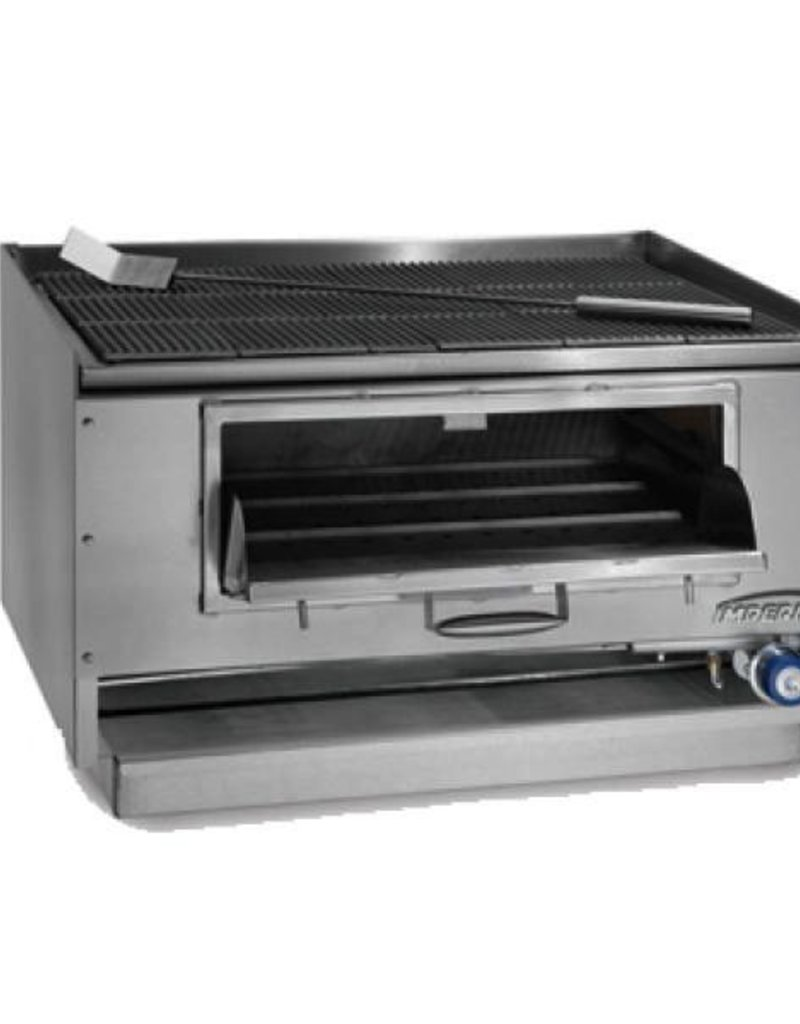 "Imperial Counter Top Mesquite Wood Broiler, 48""W x 27""D"