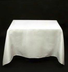 """Fortune Square Table Cloth, White, 40"""" x 40"""""""
