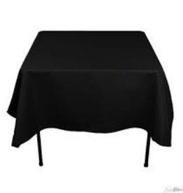 """Fortune Square Table Cloth, Black, 40"""" x 40"""""""