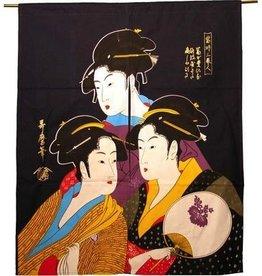 "Fortune Japanese Noren, 28-1/2"" x 38-1/2"""