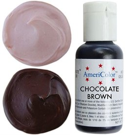 Ateco Color Gel, Chocolate Brown
